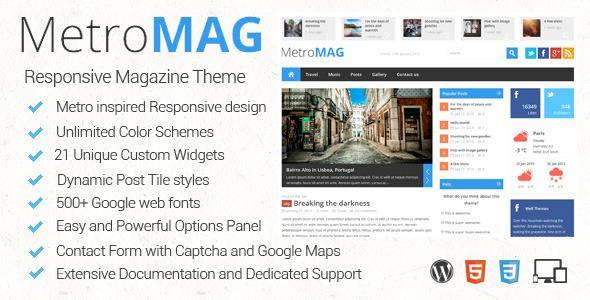 Metro Magazine v1.0.4 Responsive WordPress Theme