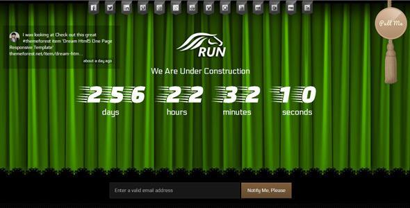 Run Coming Soon html5 Template – RIP