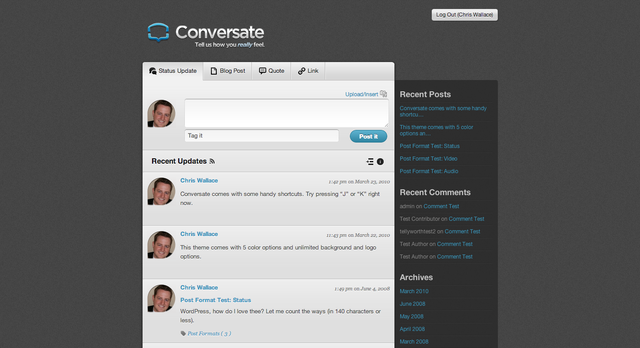 UpThemes – Conversate Theme v1.2.1 For WordPress