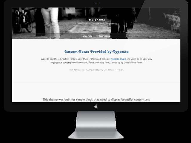 UpThemes – Mi Theme For WordPress
