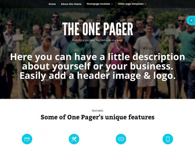 WooThemes – The One Pager v1.0.6 – WordPress Template
