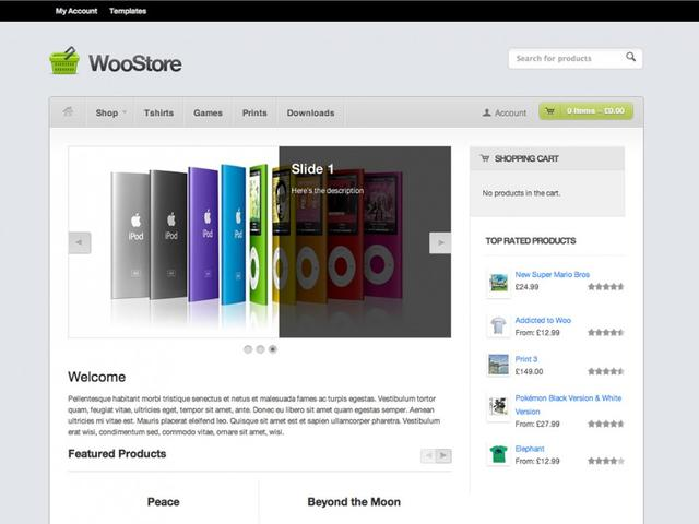 WooThemes – Woostore Theme v1.7.3 For WordPress