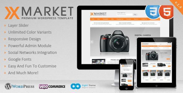 XMarket v1.4 – Responsive WordPress E-Commerce Theme – FULL