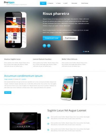 YJ Proapps – Responsive Software Presentation Joomla 2.5 & 3.0 Template