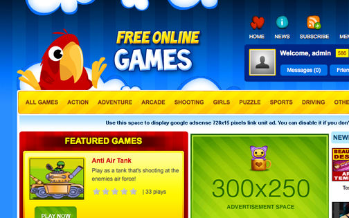 AV Arcade Template – Macaw