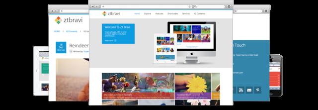 Metro UI responsive joomla 2.5 template ZT Bravi