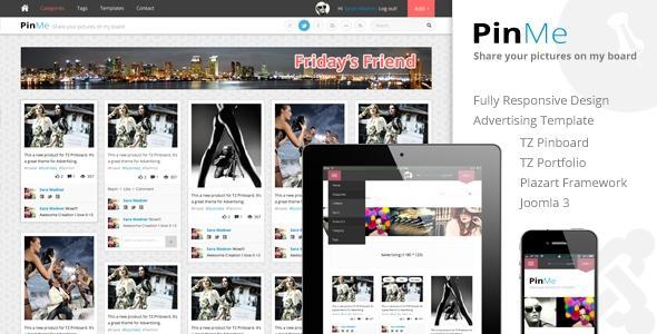 TemPlaza – PinMe v1.5 – Advertisement Joomla Template