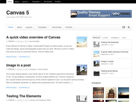 WooThemes Canvas theme v5.2.7 for WordPress