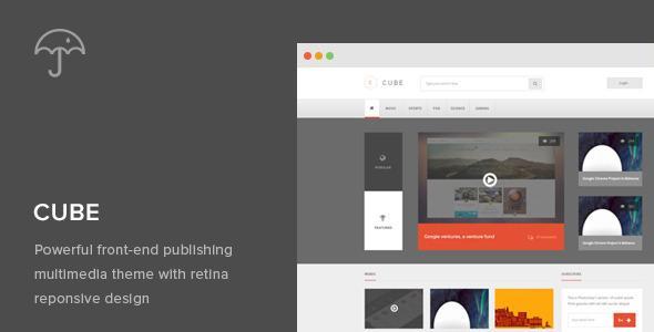 Cube: v1.0 Front-end Multimedia Publishing Theme