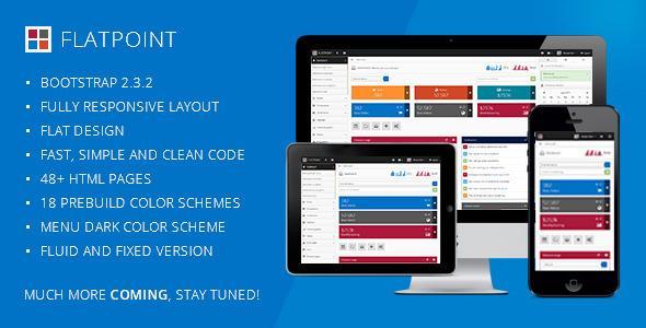 Flatpoint – Responsive Admin Dashboard Template – RIP