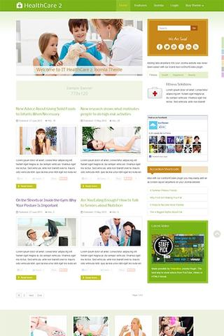 IT HealthCare template 2 for Joomla 2.5 & 3.0
