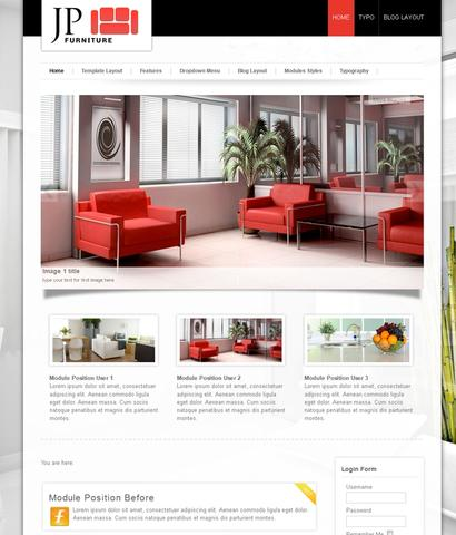 JP Furniture Template for Joomla 2.5