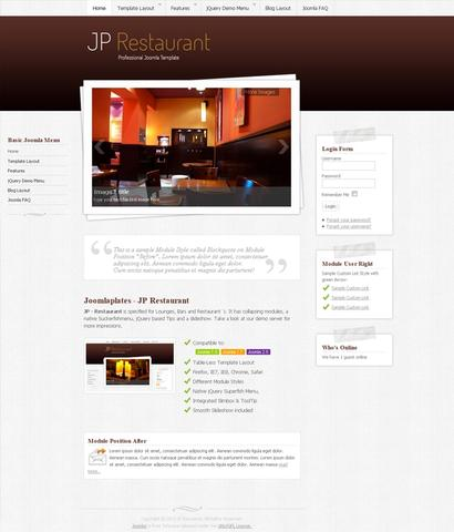 JP Restaurant Template for Joomla 2.5