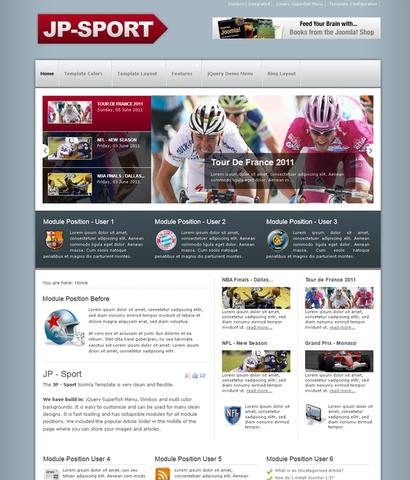 JP Sport Template for Joomla 2.5