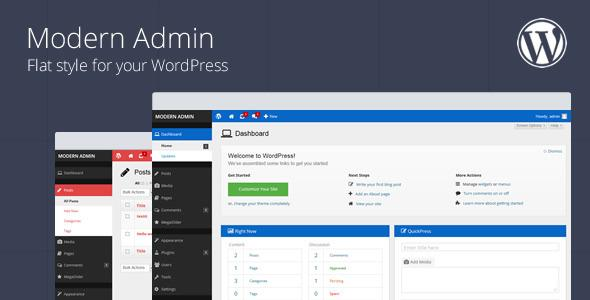 Modern Admin v1.6 – Flat style for your WordPress