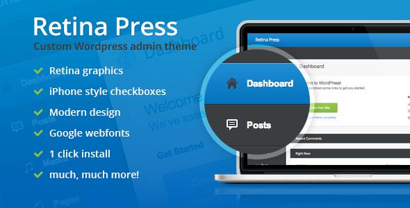 Retina Press v1.0 – WordPress admin theme