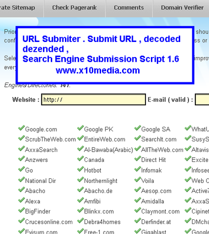 Search Engine Submission Script 1.6 – DECODED