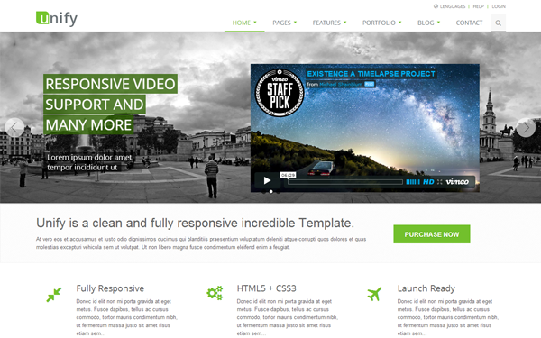 Wrapbootstrap – Unify – Responsive Website Template