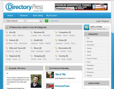DirectoryPress v7.1.4 Premium WordPress Theme