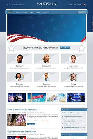 IT Political 2 Template for Joomla 2.5 & 3.1