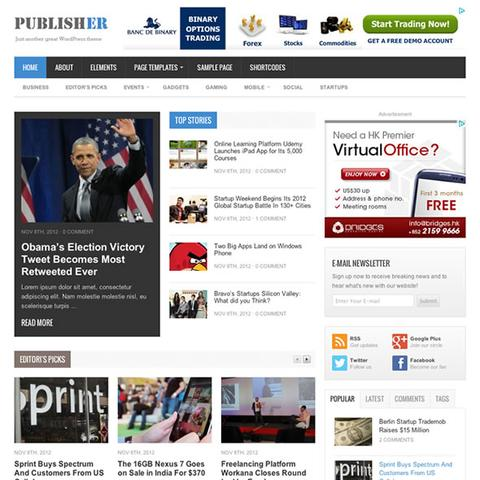 Publisher – Theme Junkie WordPress Theme