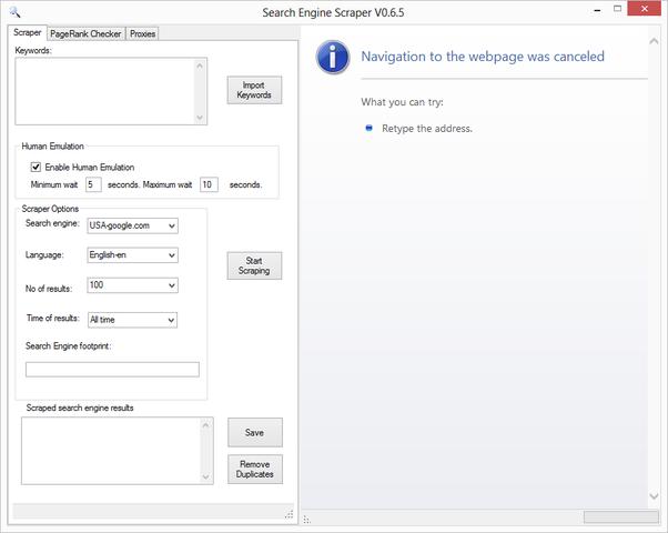 Search Engine Scraper V0.6.5