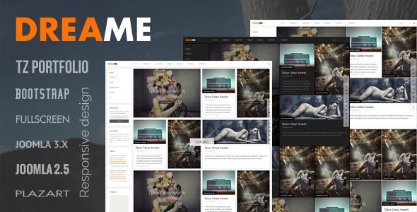 TZ Dreame Portfolio Joomla 2.5 & 3.1 Template