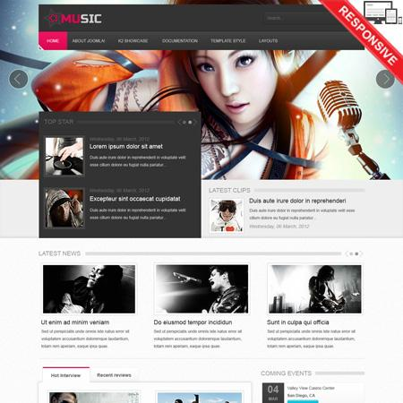 VT Music Template for Joomla 2.5 & 3.1 – Retail