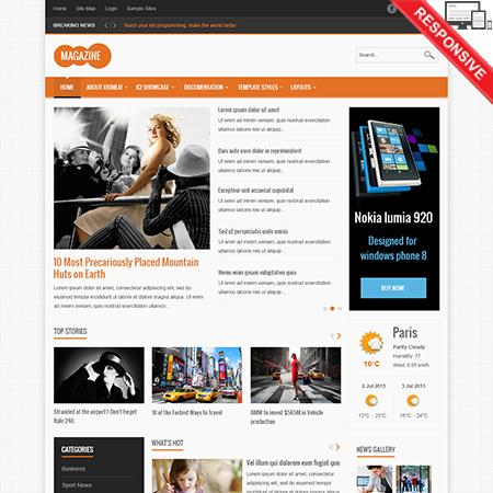 Vtem Magazine template for Joomla 2.5 & 3.1