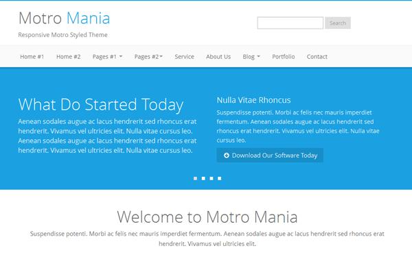 Wrapbootstra – Metro Mania – No.1 Metro Bootstrap Theme