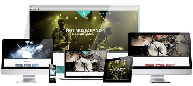HOT Music Band Template for Joomla 2.5 & 3.1