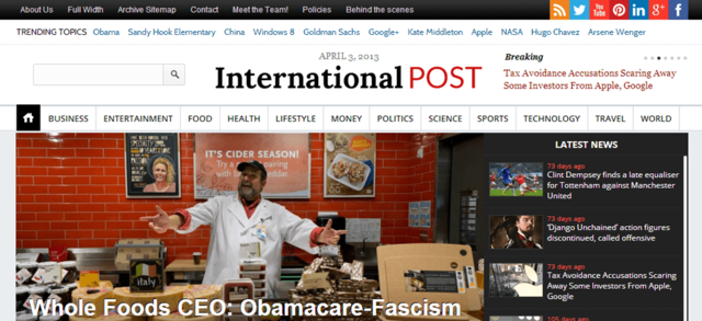 InternationalPost WordPress magazine theme for Newspaper websites
