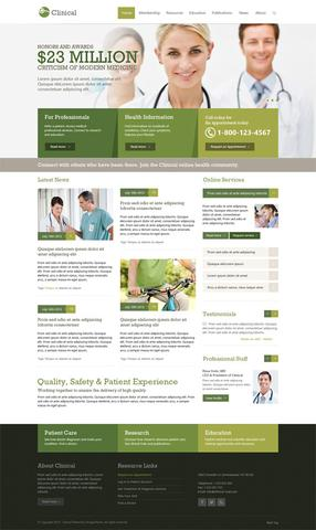 OT Clinical – Medical & Health Responsive Template for Joomla 2.5