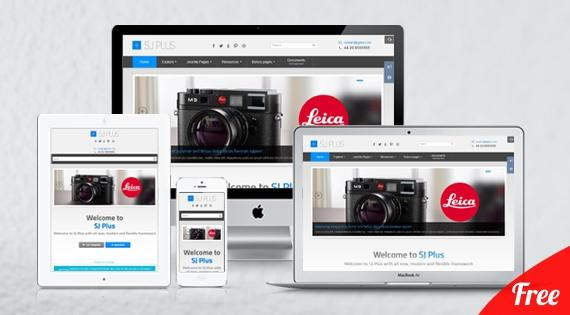 SJ Plus – Free responsive template for Joomla 2.5.x & 3.x