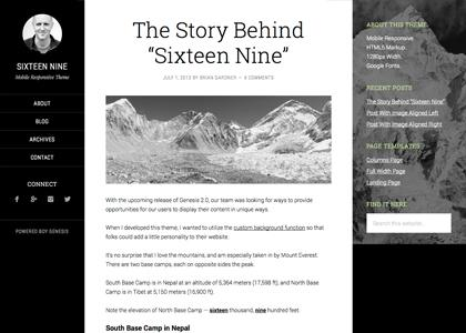 StudioPress – Sixteen Nine Theme
