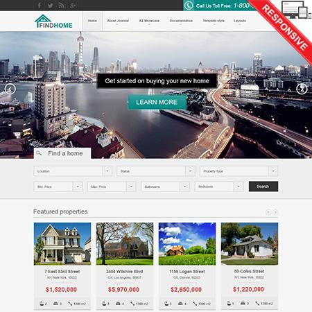 VT FindHome Template for Joomla 2.5 – 3.x