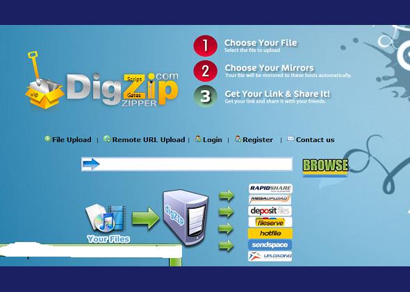 DigZip.Com Clone Script 2013