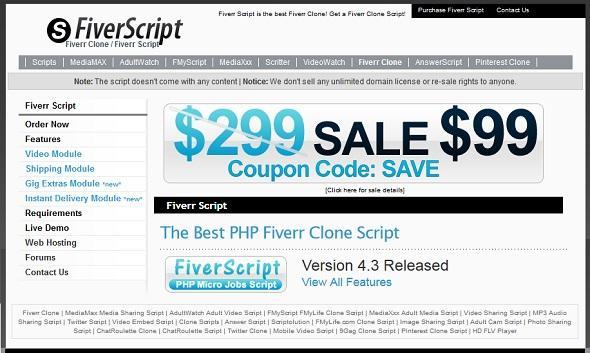 Fiverrscript V2.7 + V3.7 Clone Script