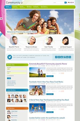 IT Community 2 template for Joomla 3.1
