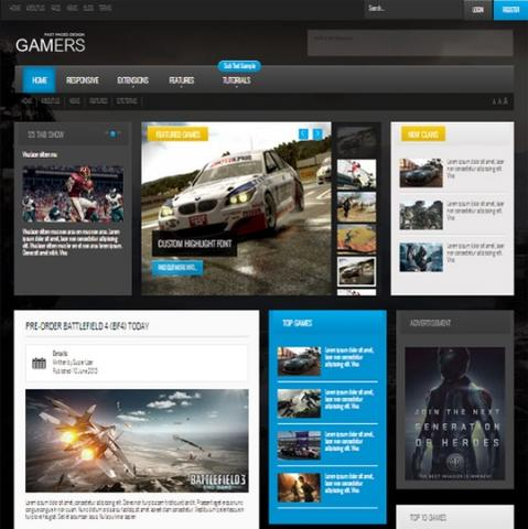 Shape5 Gamers – September 2013 Joomla Club Template