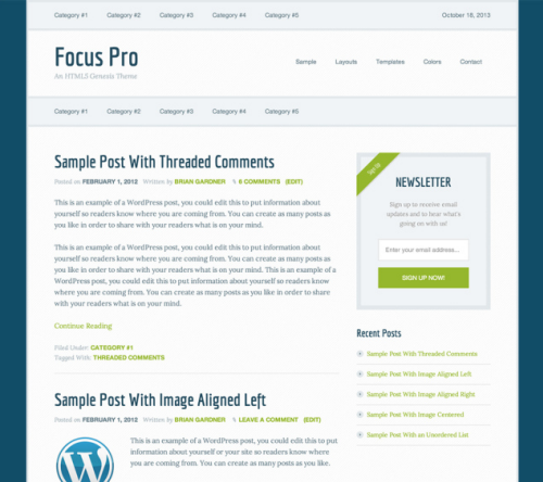 StudioPress – Focus v2.0.2 WordPress Theme