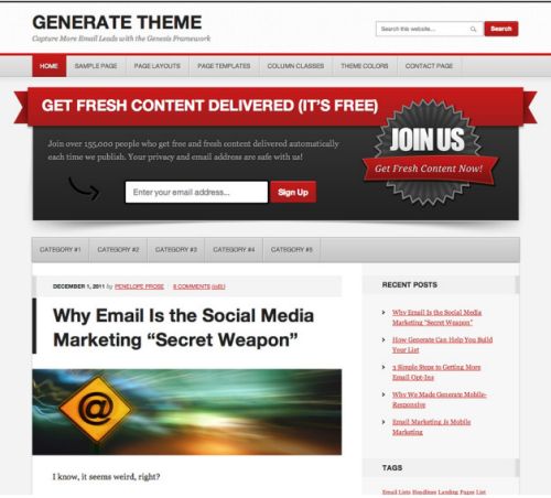 StudioPress – Generate v1.0.1 WordPress Theme