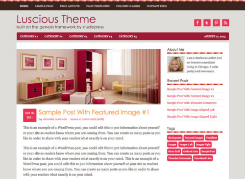 StudioPress – Luscious WordPress Theme