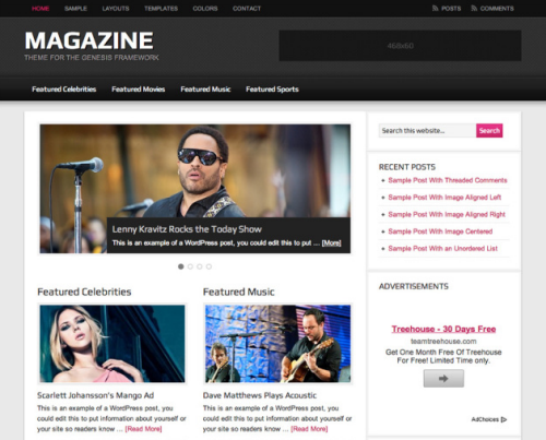 StudioPress – Magazine v2.1 WordPress Theme