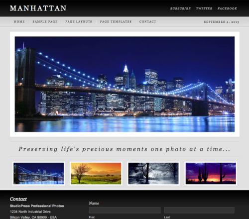 StudioPress – Manhattan WordPress Theme
