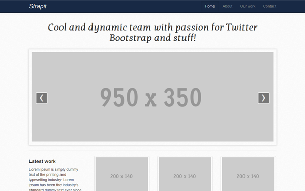 Wrapbootstrap – Strapit