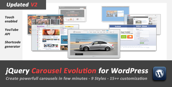 jQuery Carousel Evolution v2.2.1 for WordPress