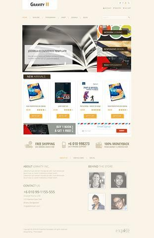 Themexpert – Gravity II Elegancy in Ecommerce Joomla 2.5 – 3.x Template