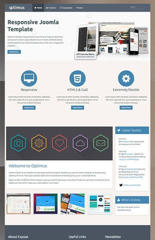 Themexpert – Optimus Multipurpose Joomla 2.5 – 3.x Template