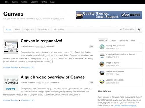 WooThemes – Canvas v5.5.3 – WordPress Template
